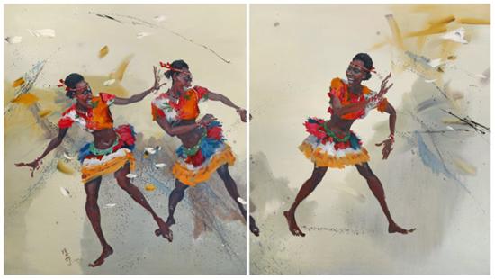 《东--邂逅--西》 2019 陈俊穆法国枫丹白露市艺术展